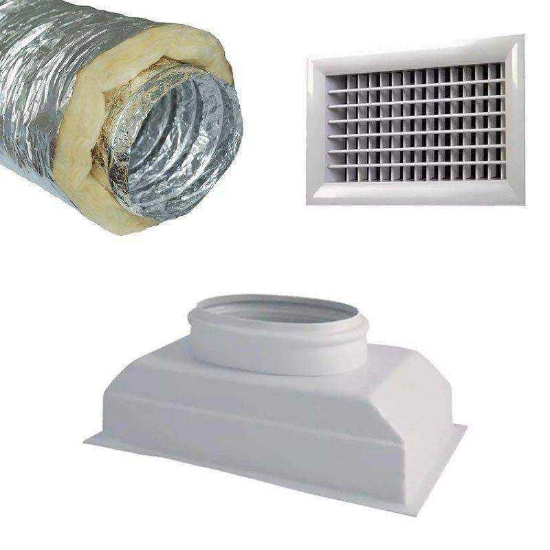 Kit prêt à poser pour climatiseur gainable 1 bouche
