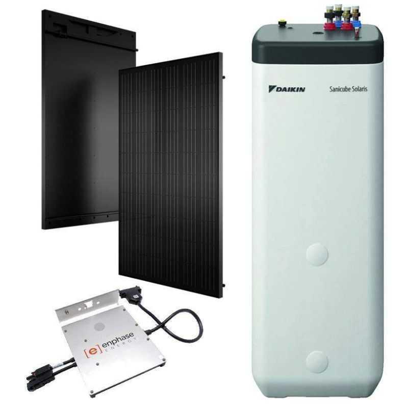 Panneau solaire Daikin hybride production eau chaude et électricité