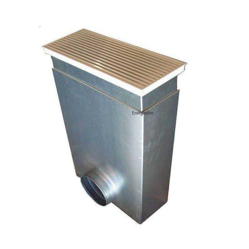 grille de soufflage au sol acier + plenum, pour climatiseur gainable
