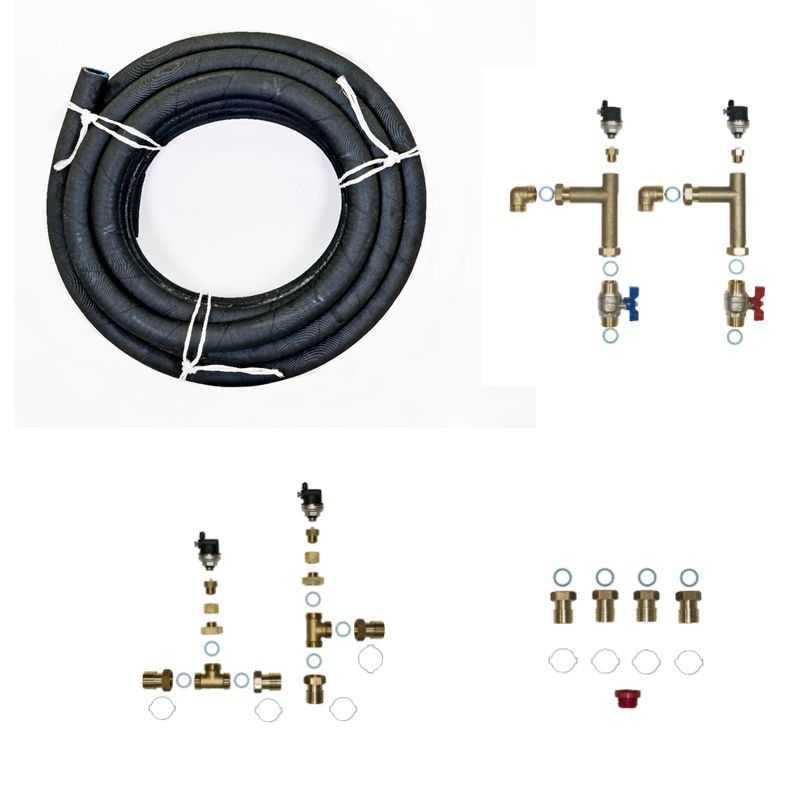 Kit prêt à poser hydraulique 15m hydrosplit pour module ecs